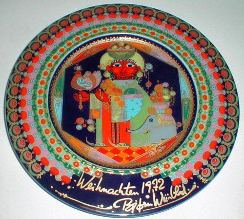 Bjorn Wiinblad/Rosenthal - Christmas Gospel Plate 1972