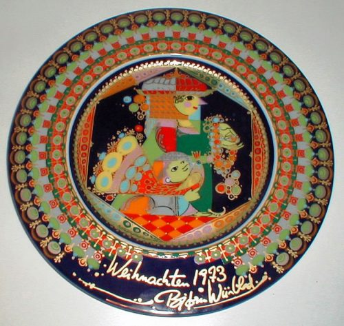 Bjorn Wiinblad/Rosenthal - Christmas Gospel Plate 1973