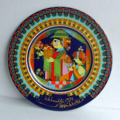 Bjorn Wiinblad/Rosenthal - Christmas Gospel Plate 1974