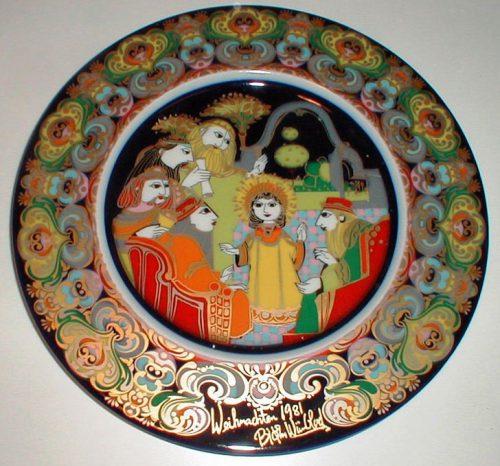 Bjorn Wiinblad/Rosenthal - Christmas Gospel Plate 1981