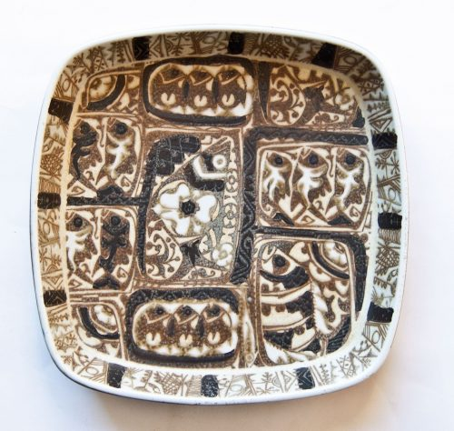 Baca Pattern 719, On Square Bowl, Nils Thorsson, Royal Copenhagen