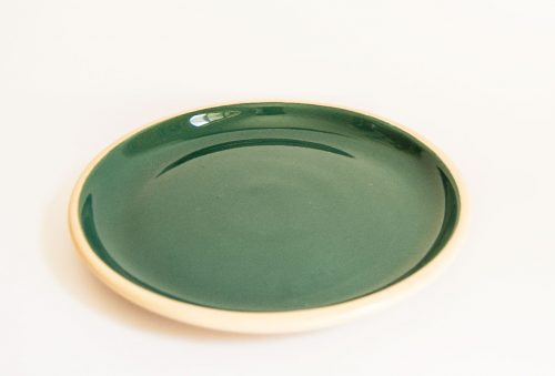Allan Lowe, Green Earthenware Plate, 1960s