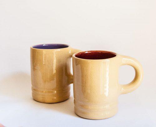 Allan Lowe- Earthenware Mugs, 1960s