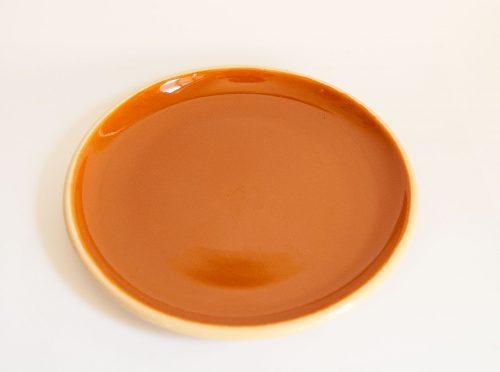 Allan Lowe, Orange Earthenware Plate, 1960s