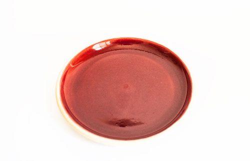 Allan Lowe, Red Earthenware Plate, 1960s