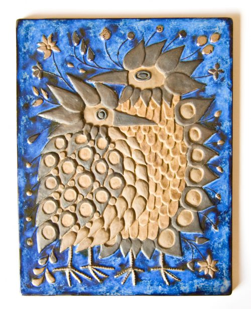 Royal Copenhagen, Beth Breyen Wall Plaque with Birds