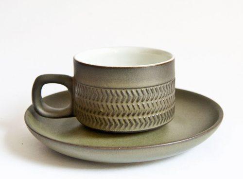 Denby Chevron Cup & Saucer