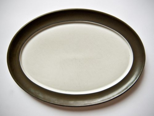 Denby Chevron Oval Main Plate