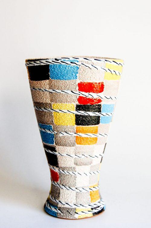 "Fratelli Fanciullacci ""Brick Pattern"" Vase"