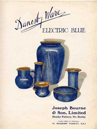 Denby Danesby Electric Blue Poster c1930s