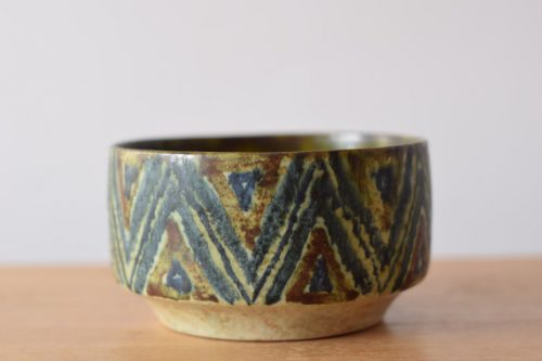 Herluf Gottschalck-Olsen Chevron Pattern Studio Pottery Bowl