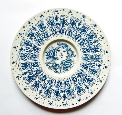 Bjorn Wiinblad, Large Wall Plate, Nymolle