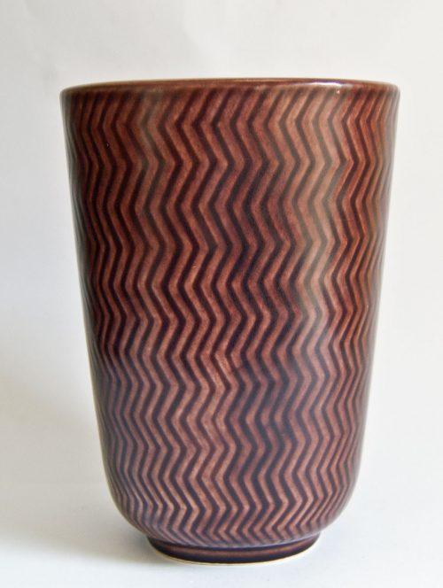 Nils Thorsson, Marselis Series Vase - Aluminia/Royal Copenhagen