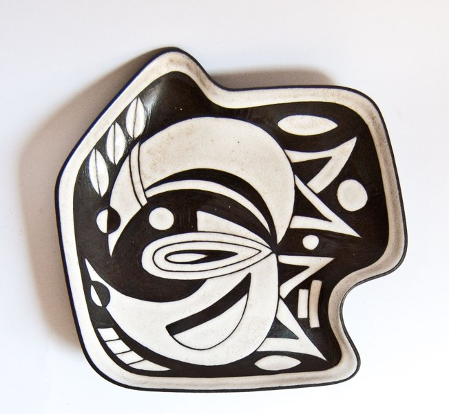 """Negro"" Series Plate, Marianne Starck, M.A.S. Denmark"