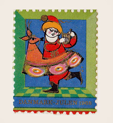 Bjorn Wiinblad Santa Postage Stamp