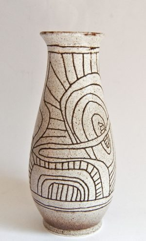 Lapid Israel - Large vase with sgraffito design