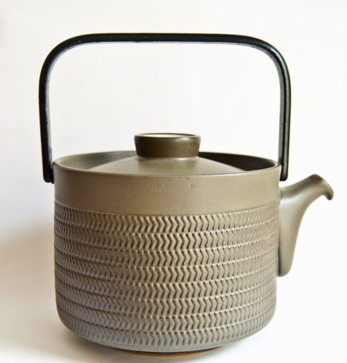 Denby Chevron Steel Handled Teapot