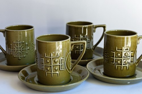 "Portmeirion ""Totem"" Coffee Cups"