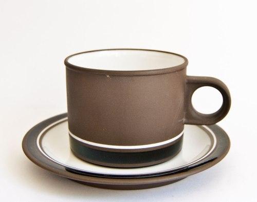 Hornsea Lancaster Vitramic Contrast, Tea Cup/Saucer