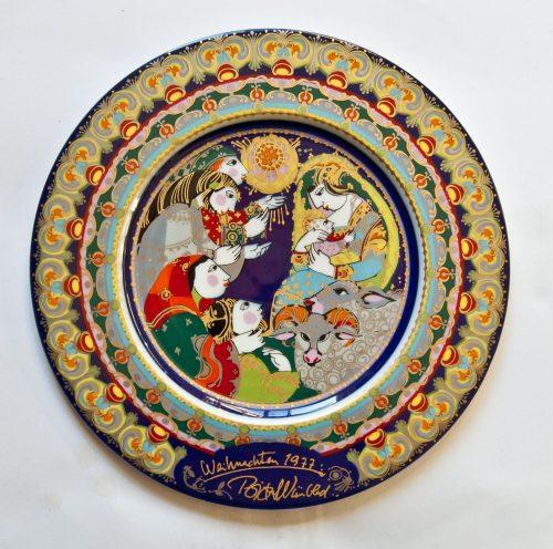 Bjorn Wiinblad, Christmas Plate 1977, Rosenthal