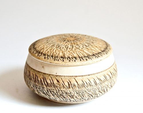 Gemma DeRidder, Lidded Bowl, Chattering Pattern