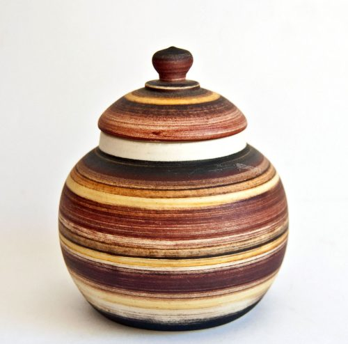 Gemma DeRidder, Lidded Jar with Banding