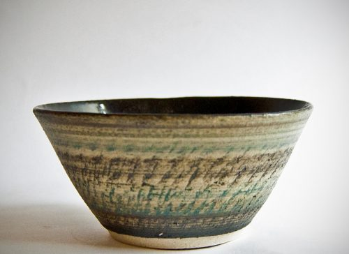 Gemma DeRidder, Bowl with Chattered Pattern