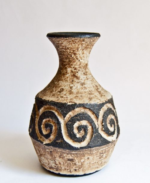 Løvemose Denmark, Carved Stoneware Bottle