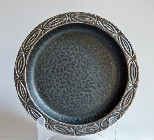 Løvemose Denmark, Stoneware Bowl with Metallic Lustre