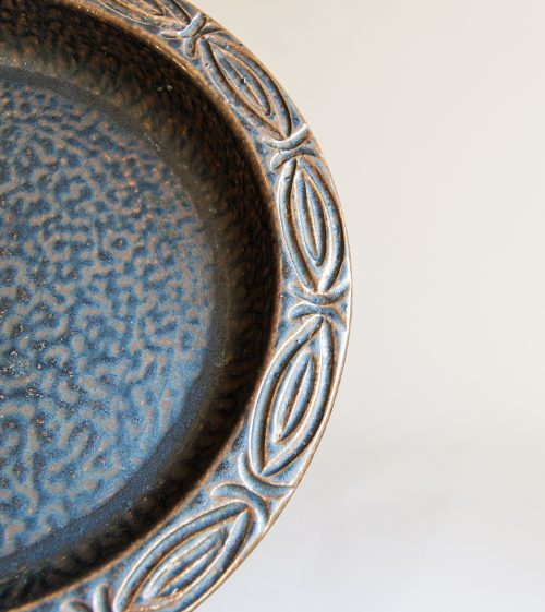 Detail -Løvemose Denmark, Stoneware Bowl with Metallic Lustre