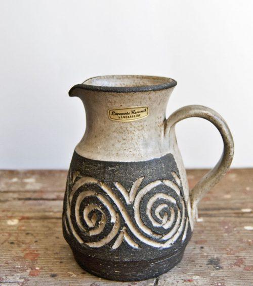 Løvemose Denmark, Carved Stoneware Jug