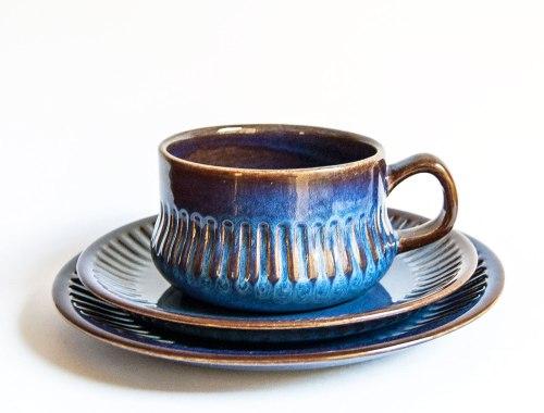 Upsala Ekeby - Kosmos Cup/Saucer, Berit Ternell