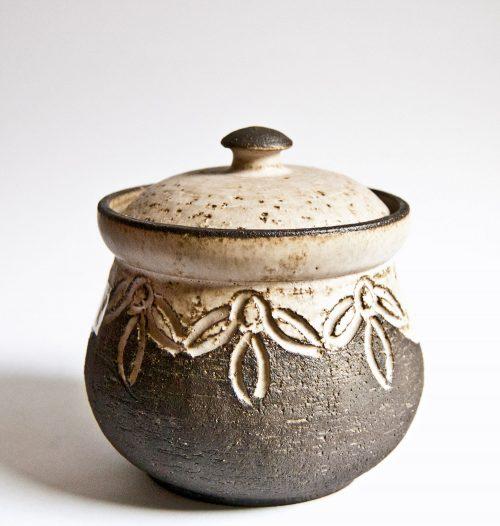 Løvemose Denmark, Lidded Stoneware Bowl