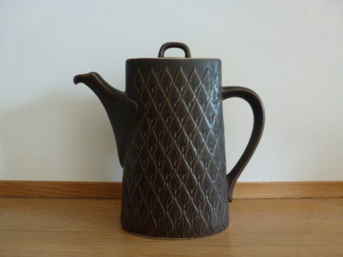 "Kronjyden Nissen, Jens Quistgaard, ""Relief"" Coffee Pot - Dark Brown"