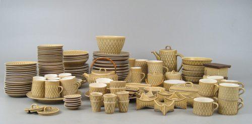 """Kronjyden Nissen, Jens Quistgaard, """"Relief"""" Dinner Set"""