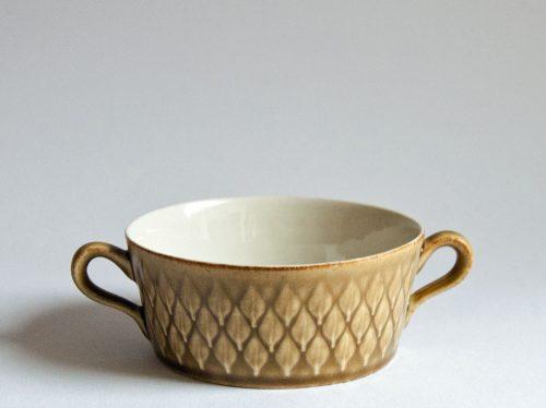 "Kronjyden Nissen, Jens Quistgaard ""Relief"" Design Cup, Handled Soup Bowl"
