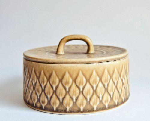 "Kronjyden Nissen, Jens Quistgaard ""Relief"" Design Cup, Lidded Sugar Bowl"