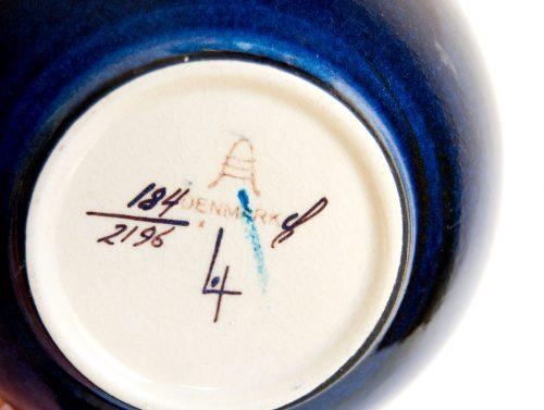 Inge-Lise Koefoed, Aluminia Bowl, Pattern 184