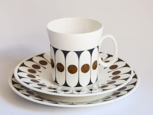 Black Velvet Coffee Set - John Russell & Hostess Tableware Stafforshire | C20Ceramics