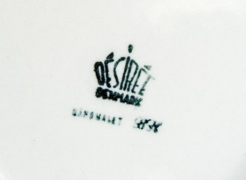 Desiree Denmark Backstamp