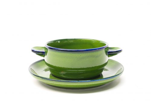Thomas Germany, Scandic Shadow Green, Eared Soup Bowl & Plate