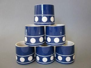 T G Green - Jersey Blue egg cups - Judith Onions