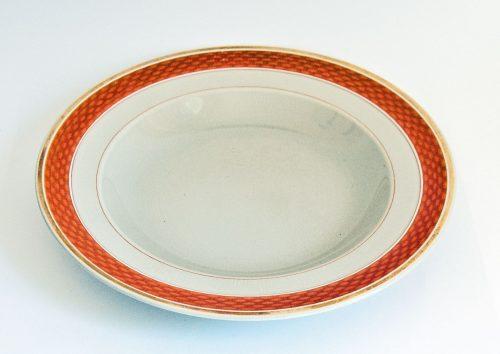 Aluminia Royal Copenhagen Tureby Deep Plate