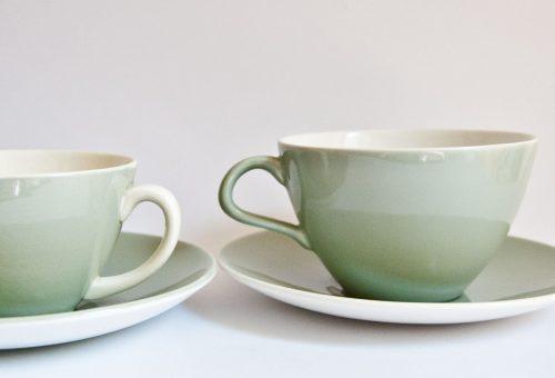 Poole Cameo Celadon Cups