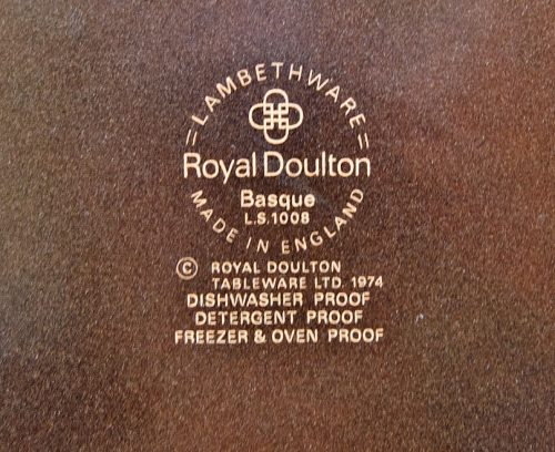Royal Doulton Basque Mark