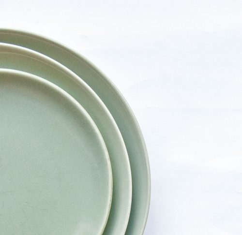 Poole Cameo Celadon - Coupe Plates