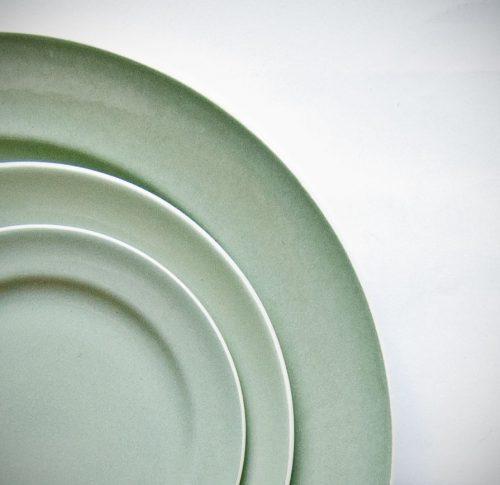 Poole Cameo Celadon Rimmed Plates