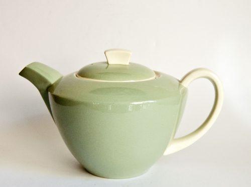 Poole Cameo Celadon Teapot