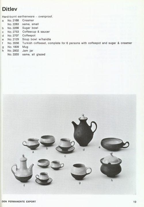 Ditlev Denmark, 1967 Den Permanente Catalogue