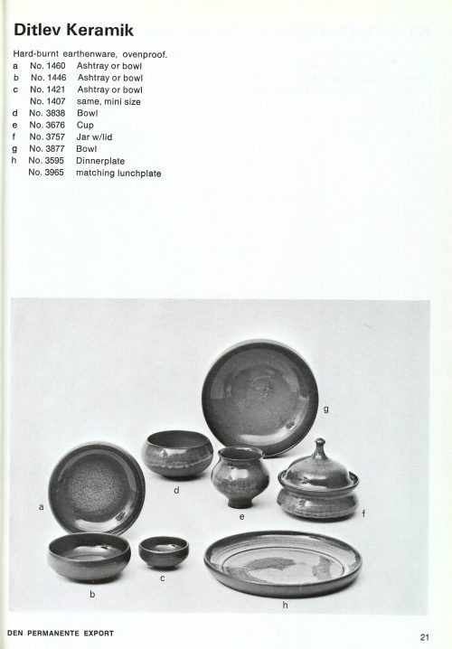 Ditlev Denmark, 1967 Den Permanente Catalogue